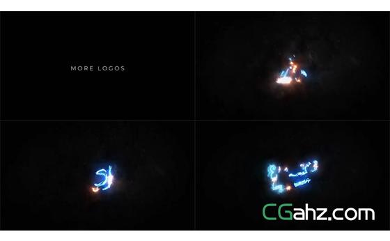 绚丽电流描绘出光效轮廓的标志演绎