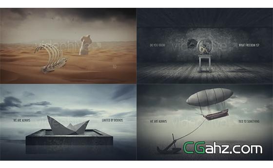 超現實的抽象藝術影像展示特效AE模板