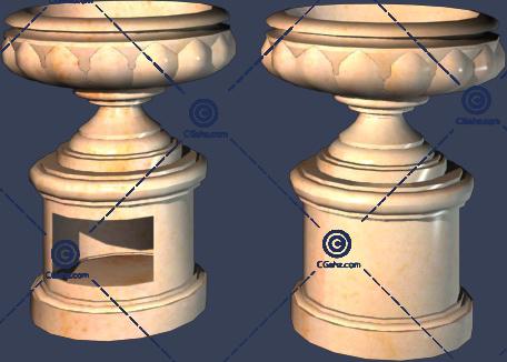 成双的小区花钵3D模型免费下载