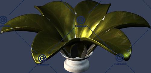 大型花盆3D模型下载