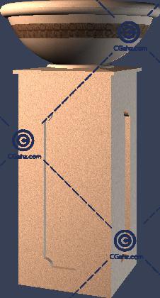 带方形底座的3D模型免费下载