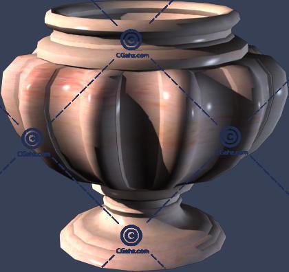 小区常见花钵3D模型下载