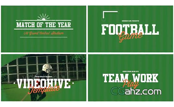 足球等竞技体育的动感宣传片AE模板