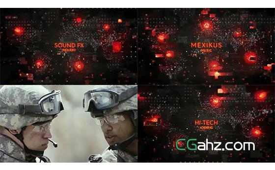 含故障特效的震撼科幻电影宣传片AE模板