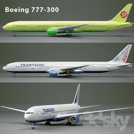 波音777飞机3D模型下载