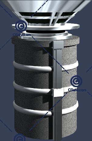 结构简单的景观柱廊模型下载