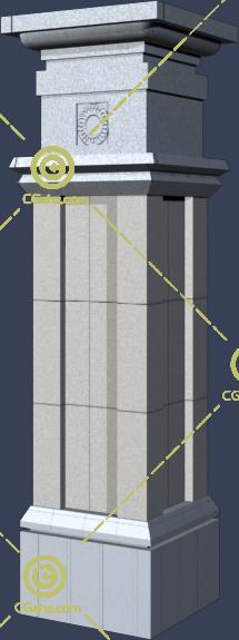 常见的景观柱子3D模型下载
