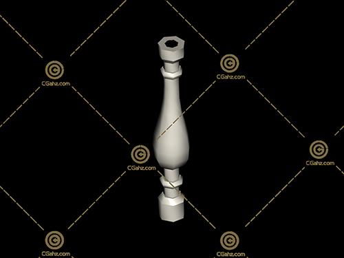 常见的罗马柱3D模型下载