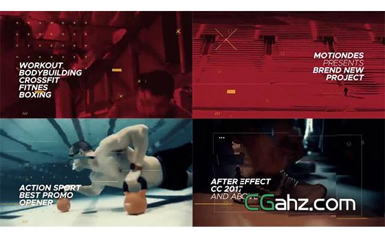 富有动感激情的视频剪辑片段展示AE模板