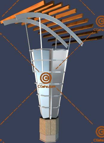 庭院装饰专用灯具3D模型下载