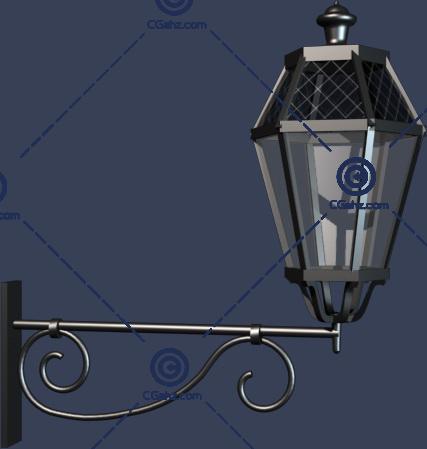 欧式庭院灯3D模型下载