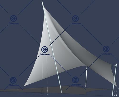 常见的三角形张拉膜3D模型下载
