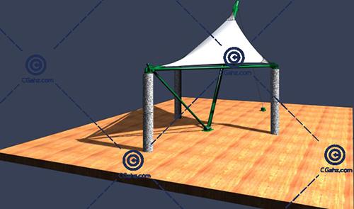 三角形的张拉膜3D模型免费下载