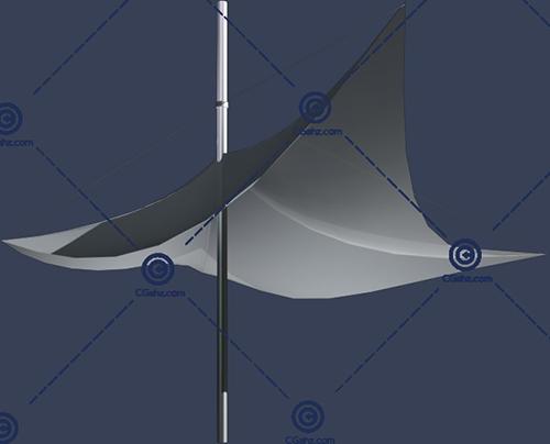 结构简单的张拉膜3D模型免费下载