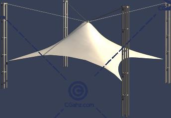 简单的张拉膜3D模型免费下载