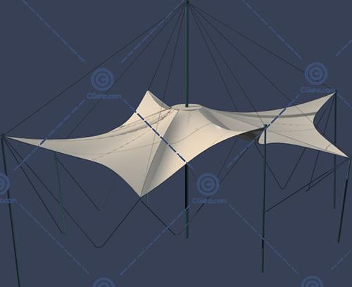 有很多线的张拉膜3D模型下载