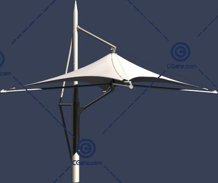 简洁的白色张拉膜3D模型下载