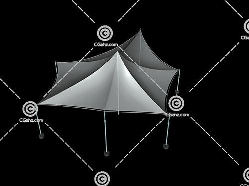 多变形张拉膜3D模型下载
