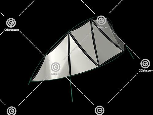 船形状的3D模型下载