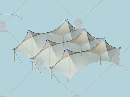 透明的张拉膜3D模型下载