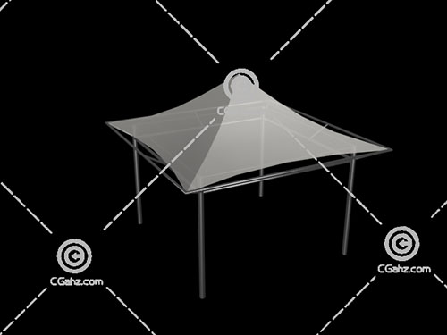 简单透明的张拉膜3D模型下载