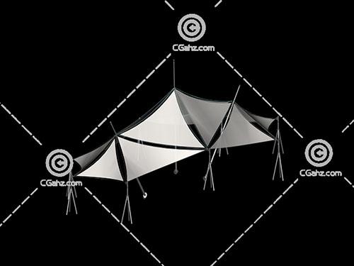 多个三角形组成的张拉膜3D模型下载