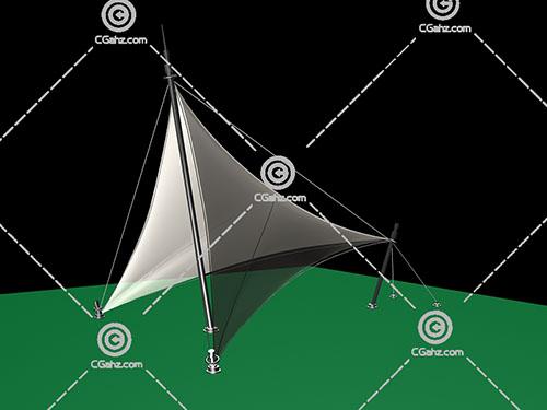 常见的透明张拉膜3D模型下载