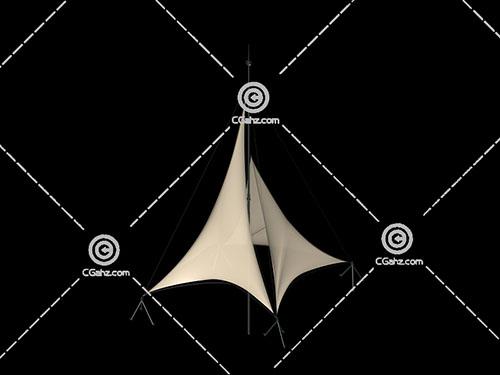 遮阳张拉膜3D模型下载