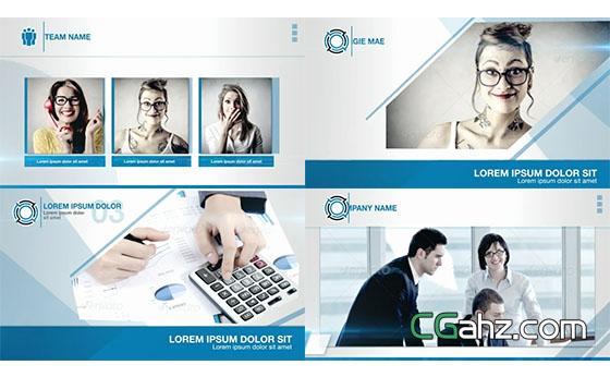 简单的现代企业商务宣传介绍AE模板