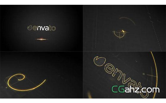 创意黄金比例设计的标志开场AE模板