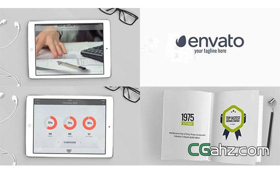 别致的企业发展历程介绍视频AE模板