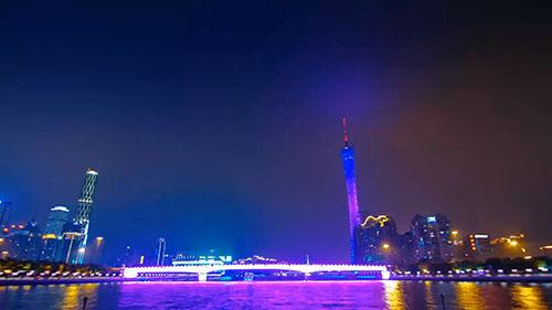 大城市夜景延时摄影视频素材下载