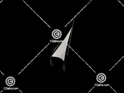 简单的三角形张拉膜3D模型下载