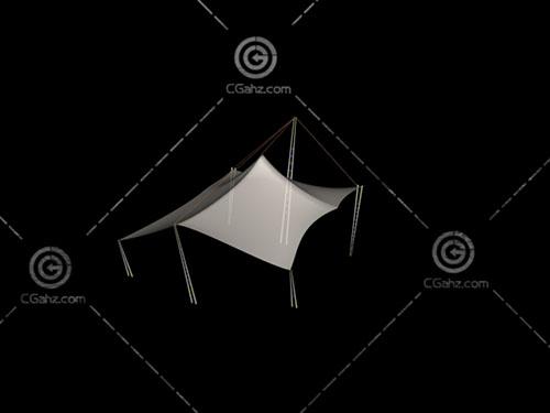 透明的多边形张拉膜3D模型下载