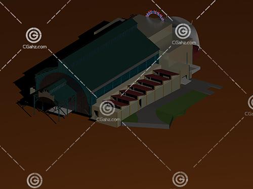 游樂場設施3D模型下載