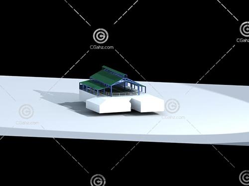游樂場地建筑3D模型下載