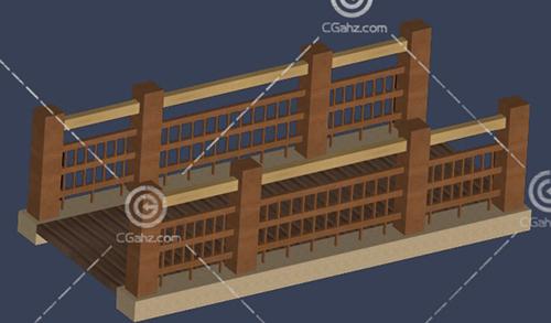 小木桥3D模型下载