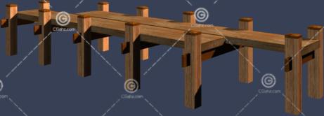 木质小桥3D模型下载