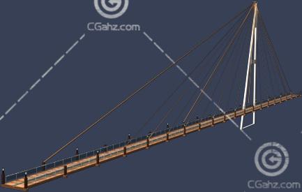 跨江大桥3D模型下载