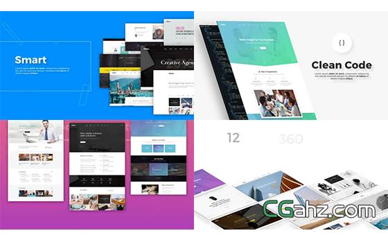 现代简约风格的企业网站设计开发宣