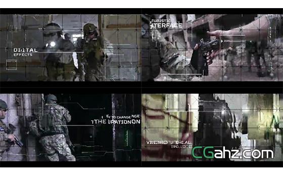 未来高科技风格的网格图像宣传片AE模板