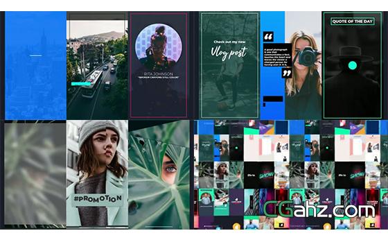 个人社交页面或APP界面动画集AE模