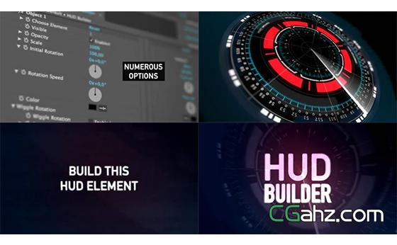 用这款AE工程来创建一款不错的HUD全息特效动画吧