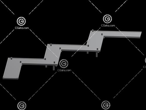 曲折的小桥3D模型下载