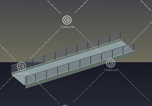 现代的小桥3D模型下载