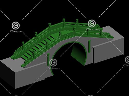 带有桥洞的小拱桥3D模型下载