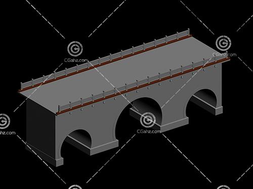 带有单个桥洞的桥3D模型下载