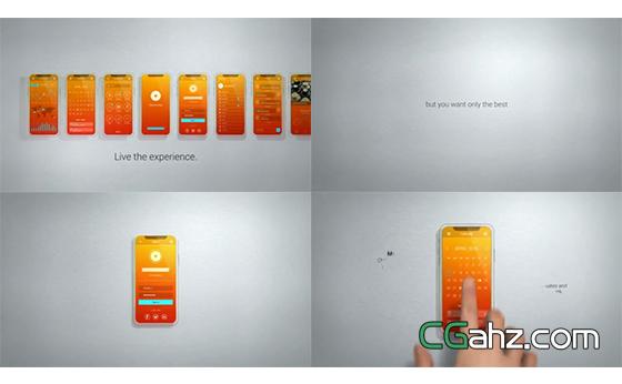 系统等在3D手机屏幕上的宣传演示AE