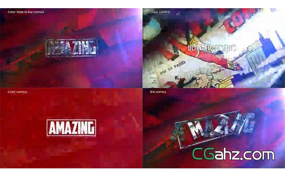 模拟漫威影业超级英雄电影的开场AE模板