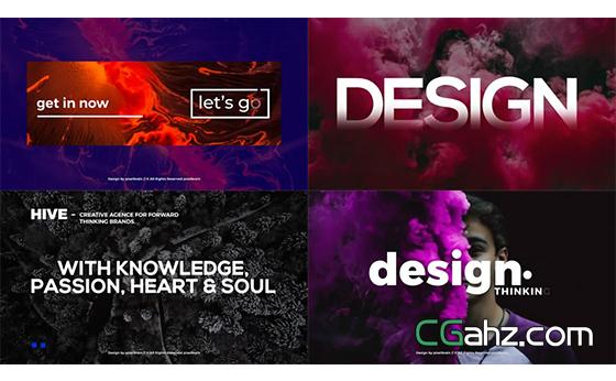 用于广告或杂志的文字排版动画演绎AE模板